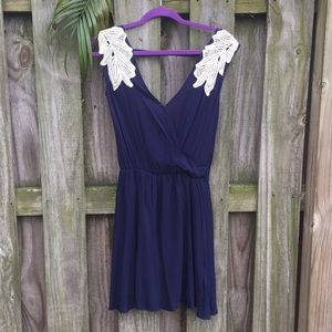 Navy boutique sundress